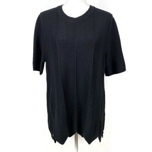 COS Wool Short Sleeve Asymmetric Hem Sweater L